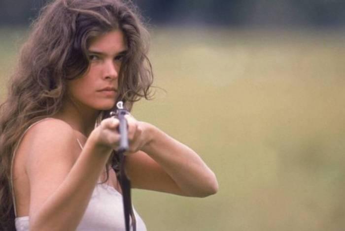 Juma (Cristiana Oliveira) em 'Pantanal', da extinta TV Manchete