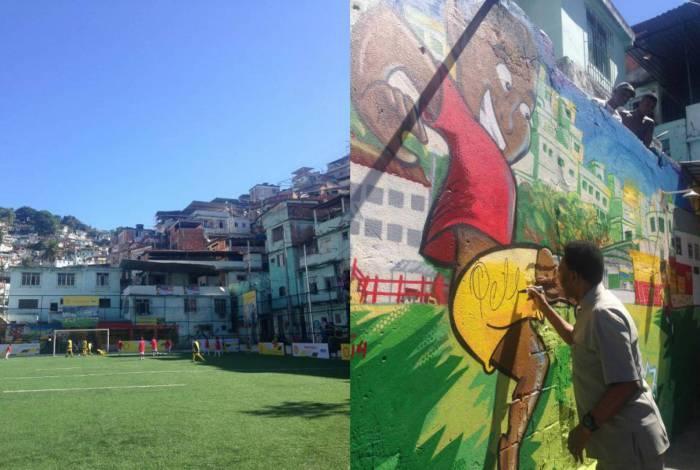 Morro da Mineira recebeu Pelé em 2014