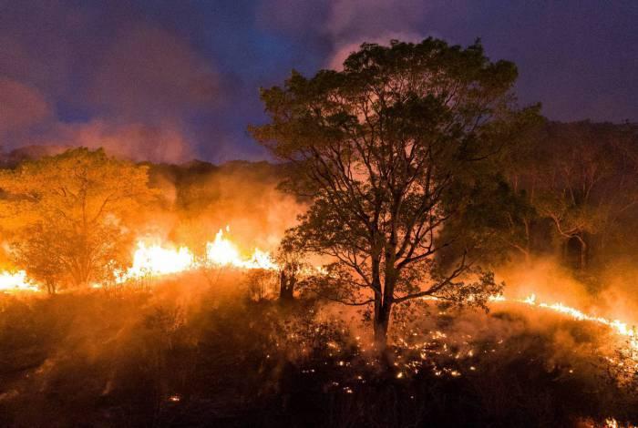 Foco de incêndio no Mato Grosso