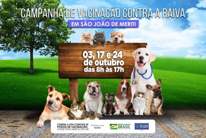 Campanha de vacinação contra raiva em cães e gatos em Meriti