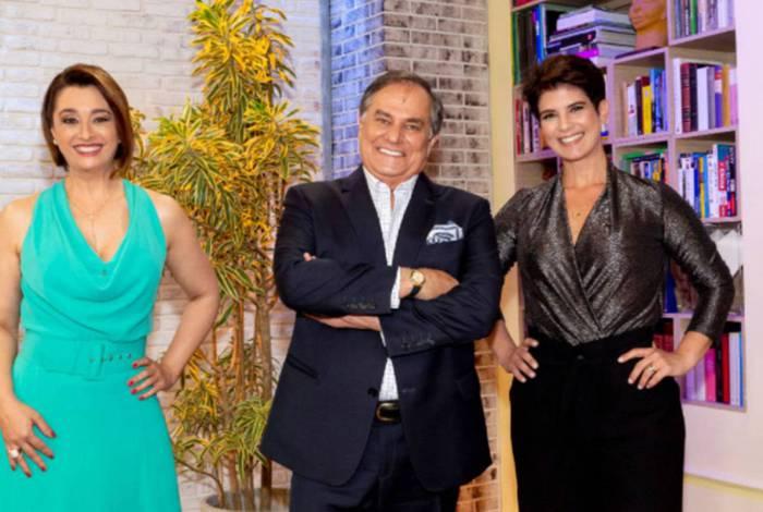 Mariana Godoy recebe Cátia Fonseca e Ronnie Von no programa de estreia do 'Melhor Agora'