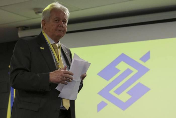 Presidente do Banco do Brasil, Rubem Novaes, na sede da estatal