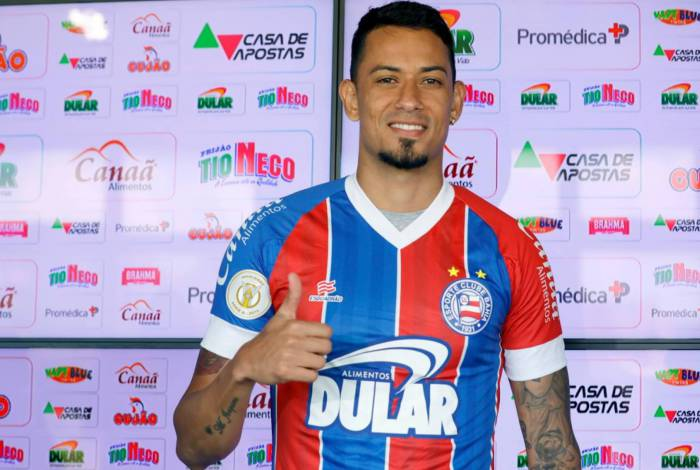 Lucca não fez gol em 17 jogos pelo Bahia, em 2019