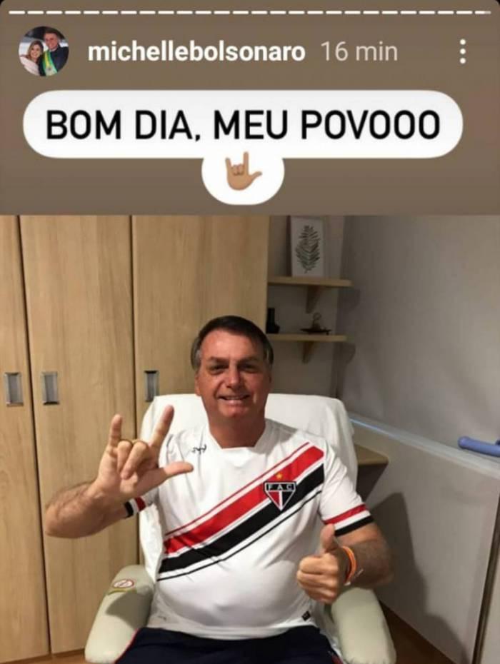 Bolsonaro segue com 'ótima evolução clínica'