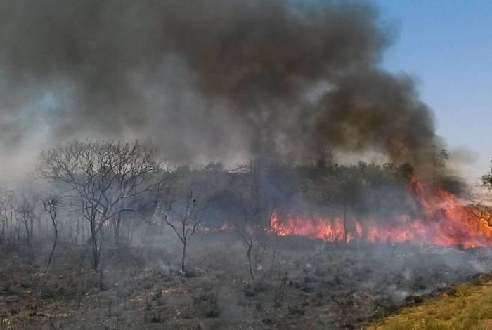 Incêndio de grandes proporções já destruiu uma extensa área do Parque Estadual de Ibitipoca