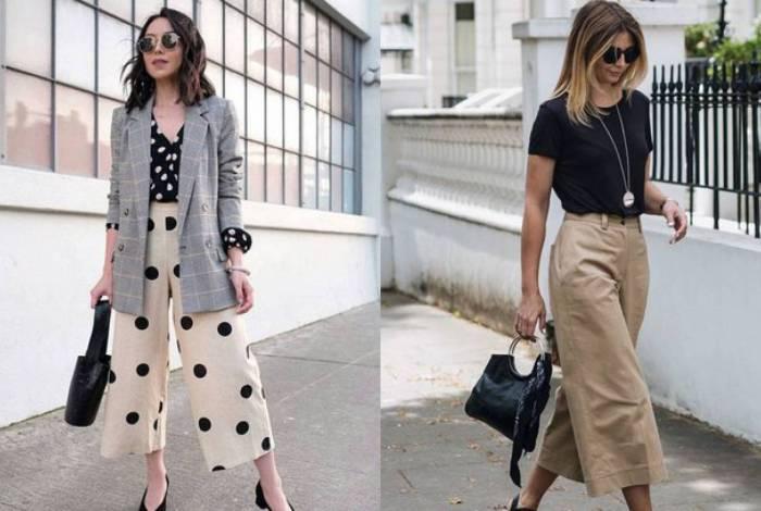 Calça pantacourt: com a modelagem mais aberta e mais curta, a calça é ideal para dias mais quentes