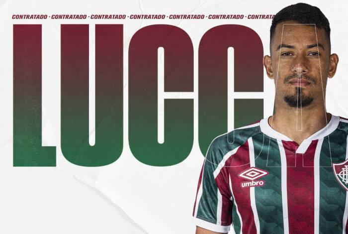 Lucca assinou contrato com o Fluminense até o fim de abril de 2022