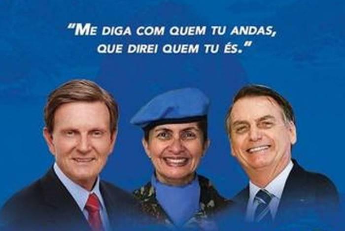 Material de campanha com uso de farda motivou abertura de processo administrativo contra vice de Crivella, Tenente-Coronel Andréa Firmo