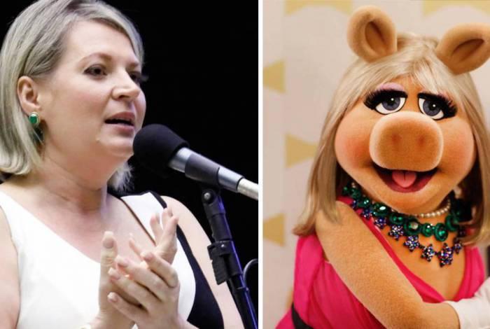 Joice Hasselmann é comparada por bolsonaristas à personagem Miss Piggy, dos Muppets, e decidiu usar isso a seu favor. Mas Disney não autorizou uso da imagem