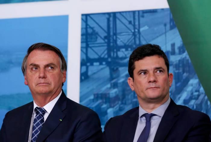 Jair Bolsonaro e Sergio Moro, quando eram aliados