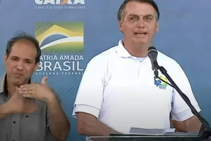 Presidente Jair Bolsonaro participa de lançamento de programa social no Pará