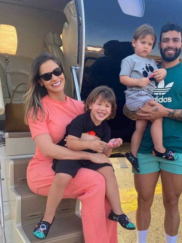 Andressa Suita, Gusttavo Lima e os filhos