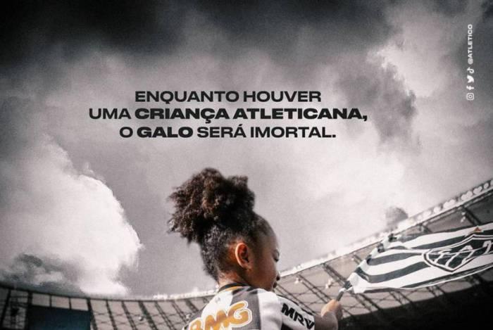 Atletico-MG utiliza lema histórico do Vasco e Cruzmaltino ironiza no Twitter