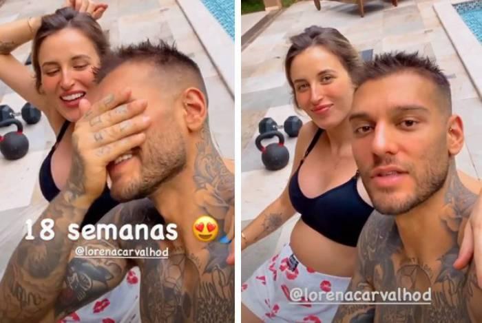 Lucas Lucco comemora 18 semanas de gravidez de Lorena Carvalho