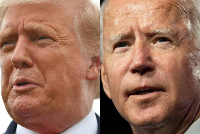 Donald Trump e Joe Biden, candidatos nos EUA