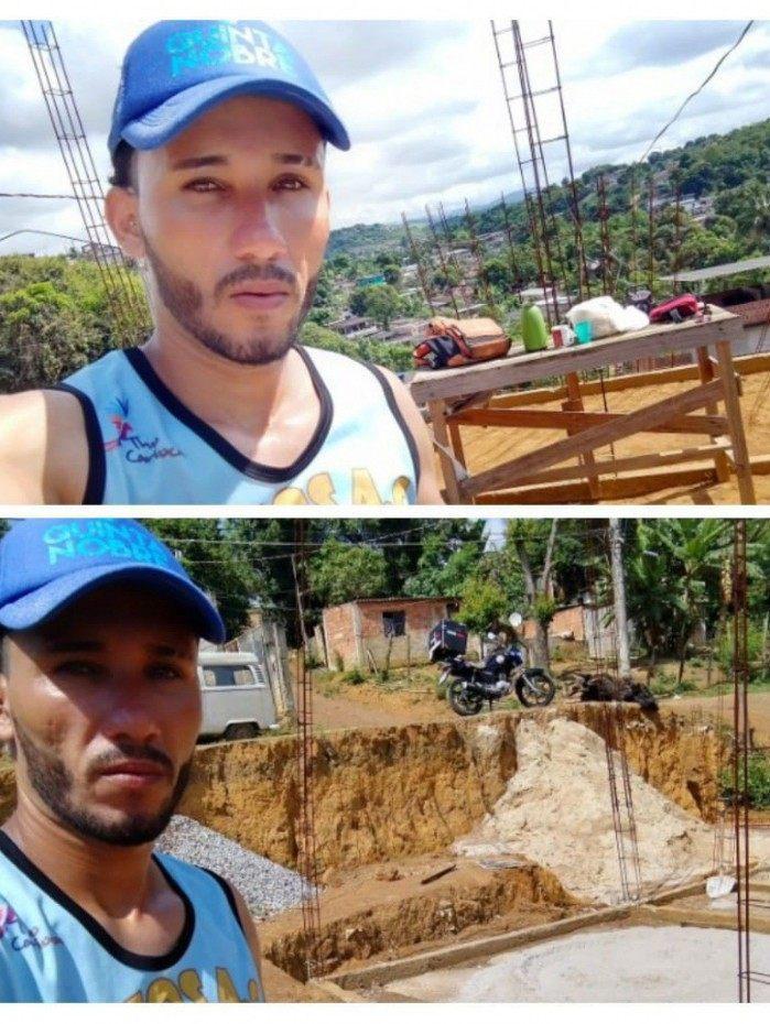 William Ramos Navarro, de 30 anos, conseguiu a ajuda de três pessoas na obra de sua futura casa