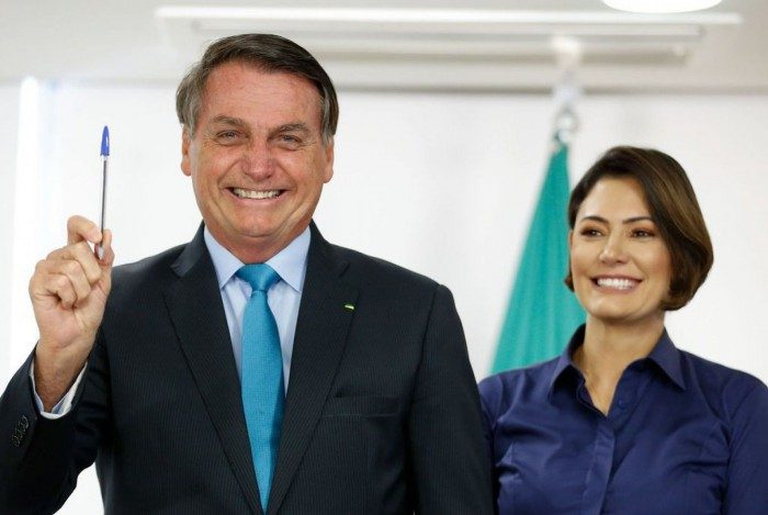 Presidente Bolsonaro e primeira-dama Michelle Bolsonaro