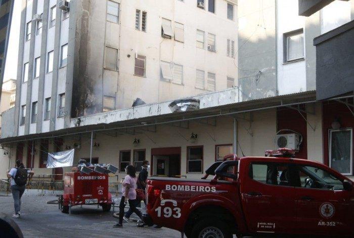 Hospital Federal de Bonsucesso um dia após incêndio