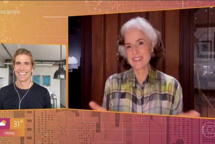 Reynaldo Gianecchini e Marieta Severo no 'Encontro'