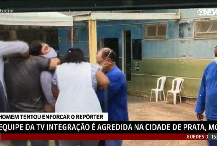 Repórter é agredido durante cobertura eleitoral