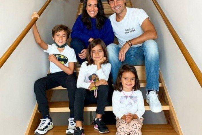 Ricardo Pereira e família