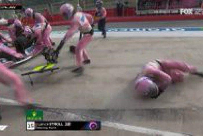 Lance Stroll atropela mecânico no GP de Ímola