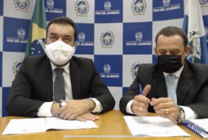 Cláudio Castro e o secretário Alan Turnowski fizeram o anúncio nesta quarta-feira
