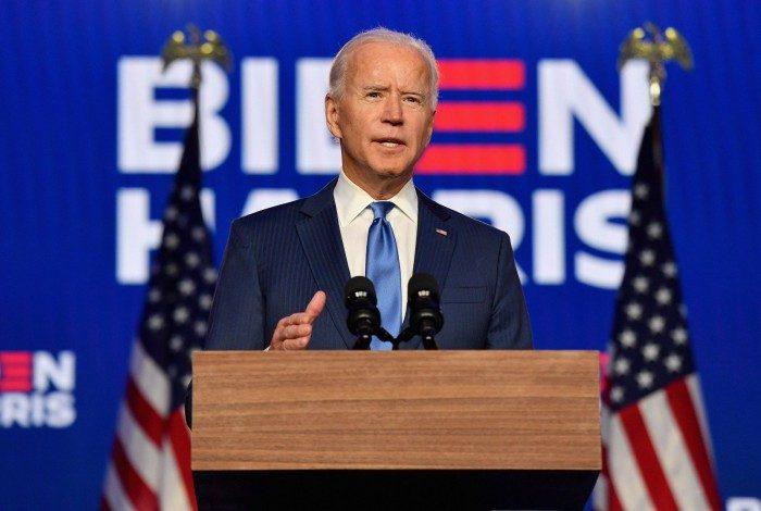 Candidato democrata Joe Biden faz discurso nos EUA