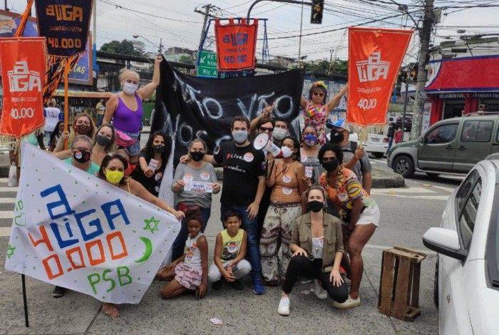 Manifestação contra ação do TRE em Anchieta
