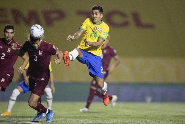 Firmino garantiu a vitória sobre a Venezuela, no Morumbi