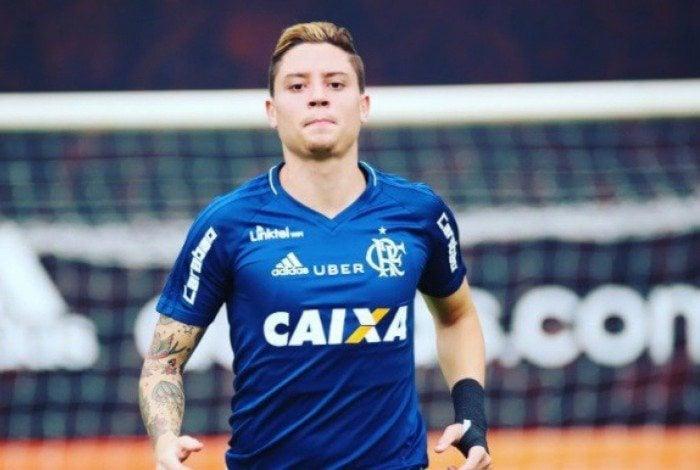 Adryan em ação em treino do Flamengo