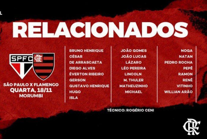 Flamengo enfrenta o São Paulo pela Copa do Brasil
