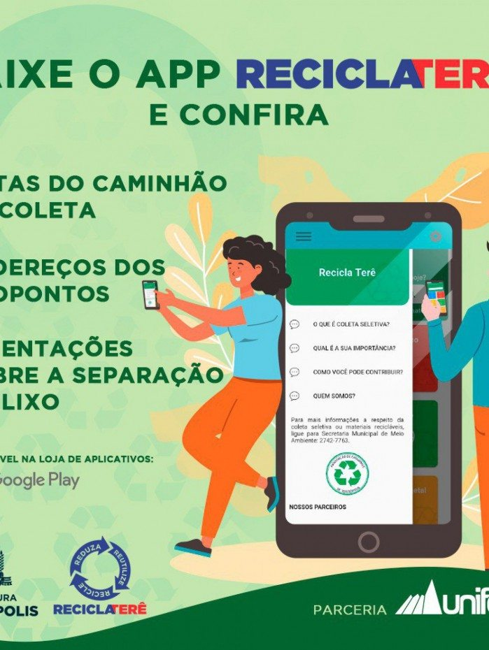 Programa Recicla Terê ganha aplicativo exclusivo para orientar a população