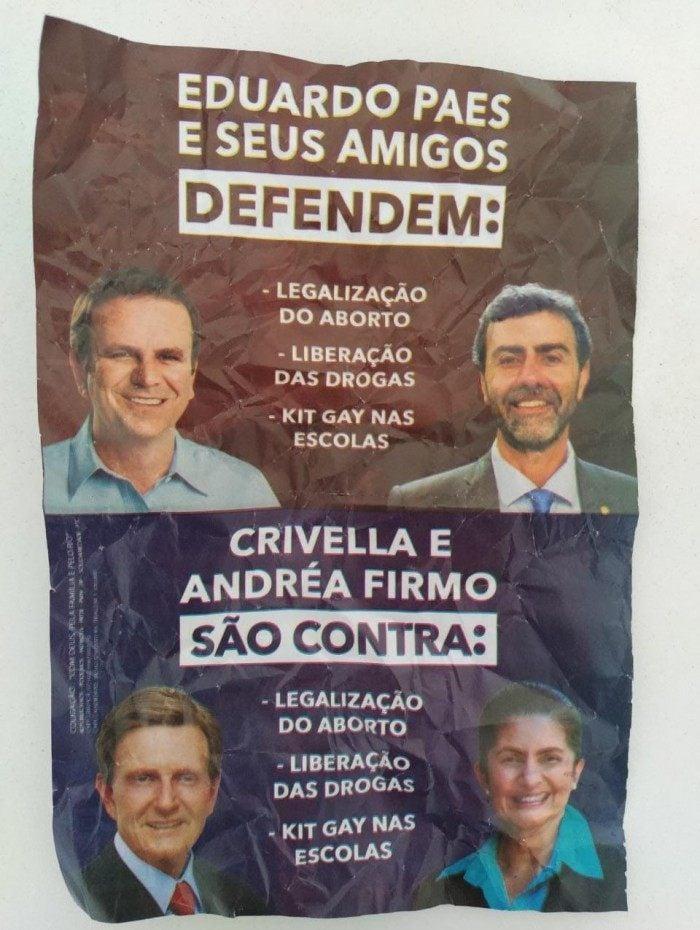 Panfleto da campanha de Crivella