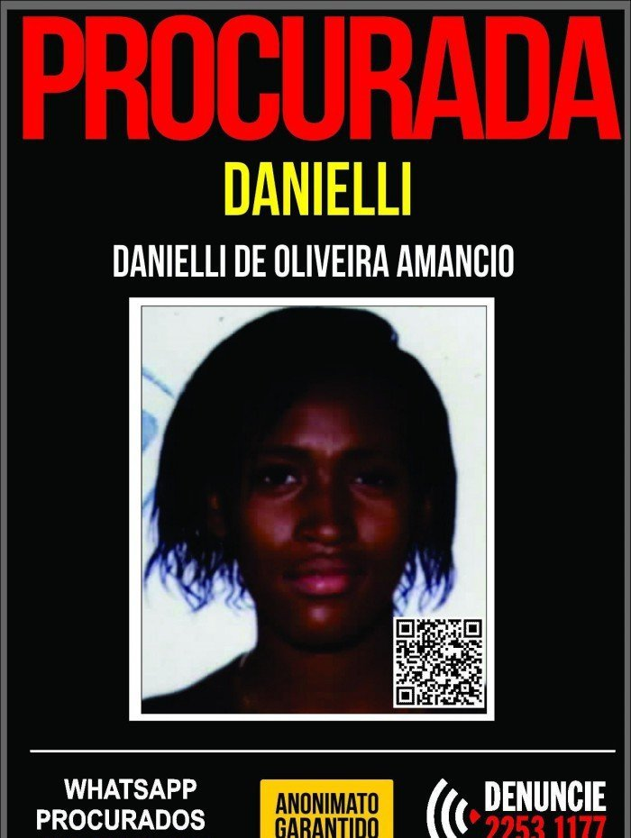 Danielli de Oliveira Amancio, de 40 anos, é a principal suspeita na morte de Kamyle Vitória Alves da Silva, de 17 anos