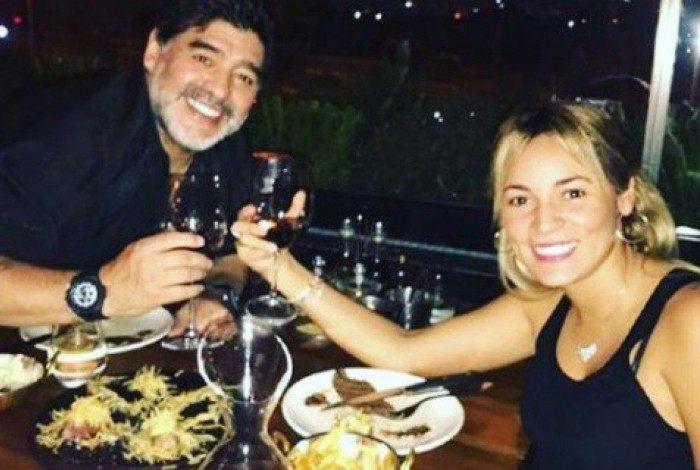Diego Maradona e Rocío Oliva