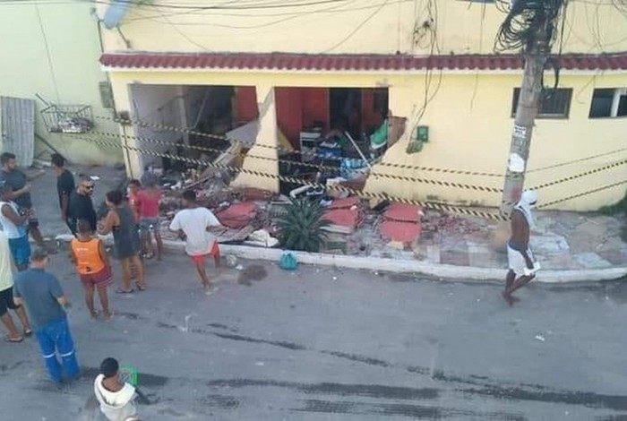 Casa da família ficou destruída após a explosão