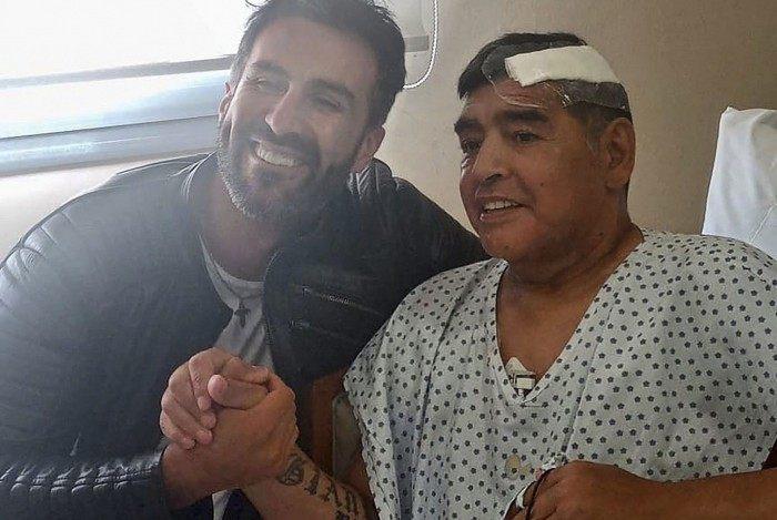 Maradona e o médico Leopoldo Luque