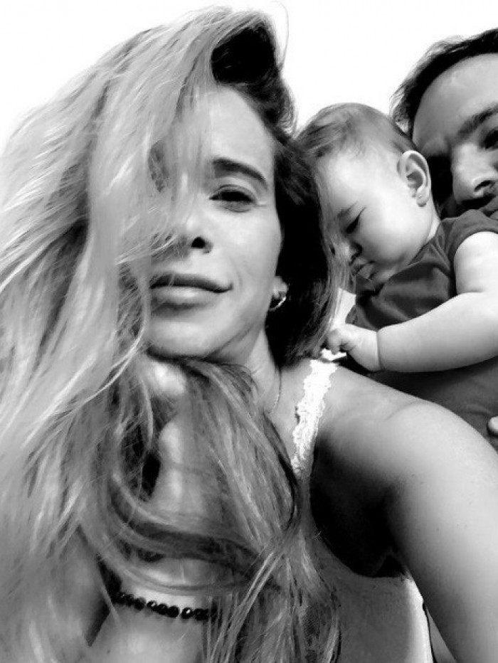 Dany Bananinha, o marido e a filha