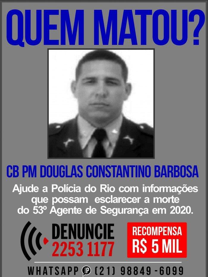 Cabo da Polícia Militar Douglas Constantino Barbosa, morto em Nova Iguaçu