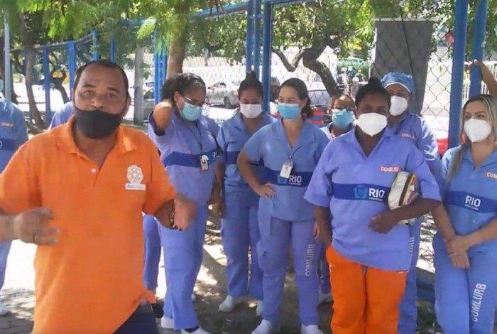 Garis que trabalham no Hospital Lourenço Jorge cruzam os braços após denuncia de assédio moral