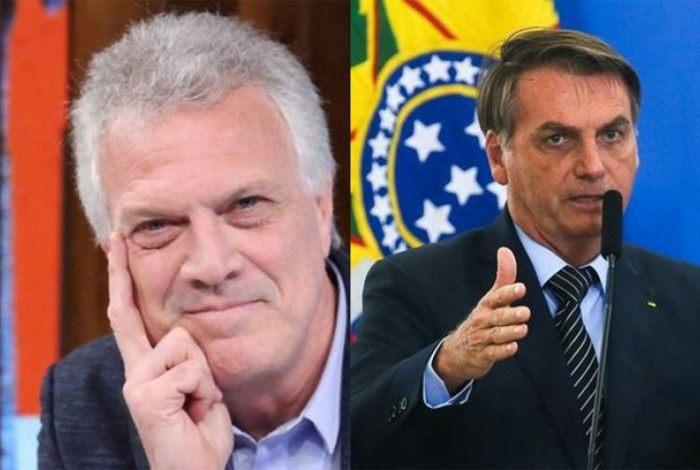 Pedro Bial e Jair Messias Bolsonaro
