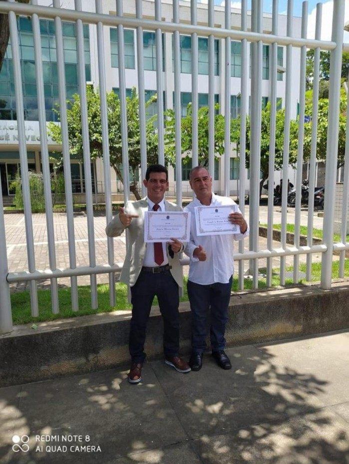 Prefeito eleito e seu vice em Laje do Muriáe, no Noroeste Fluminense foram diplomados.