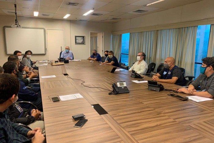 Prefeito em exercício, Jorge Felippe participou hoje de 10 reuniões na Prefeitura do Rio