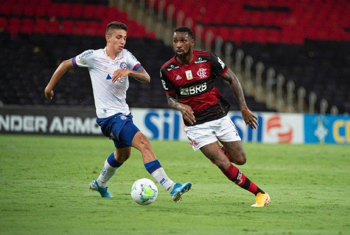 Gerson e Ramírez durante Flamengo x Bahia