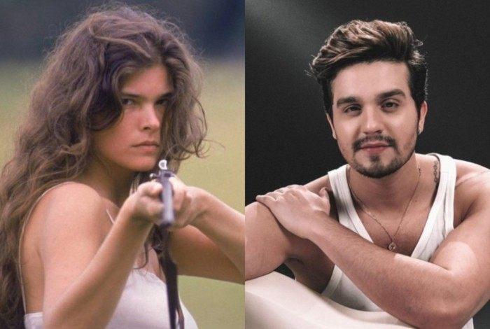 Cristiana Oliveira, a Juma Marruá da primeira versão, e Luan Santana