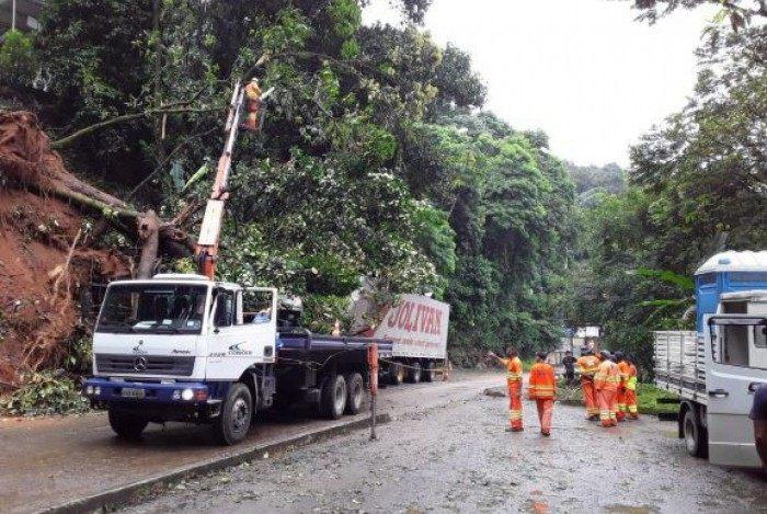 Imagens de serviços sendo executados pela Concer nas pistas da Serra de Petrópolis