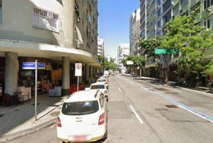 Rua Júlio de Castilhos, em Copacabana, onde aconteceu o crime