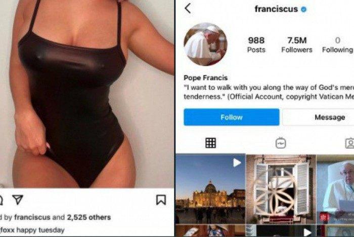Conta do Papa curtiu foto de modelo