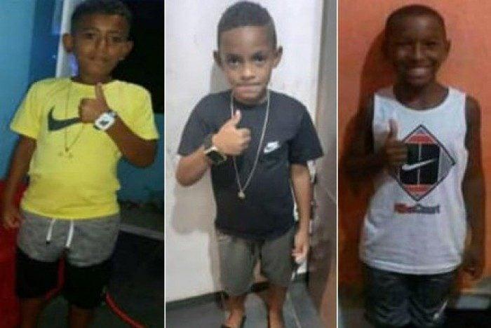Da esquerda para a direita: Alexandre, Lucas e Fernando